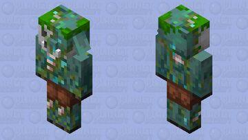 Drowned Piglin Minecraft Mob Skin