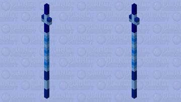 Lightning Blue Sea Spear Minecraft Mob Skin
