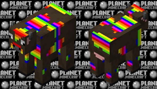 Rainbow cow Minecraft Skin