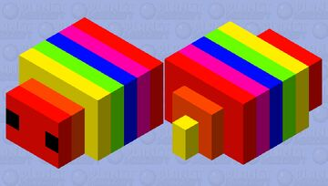 Rainbow bug Minecraft Mob Skin