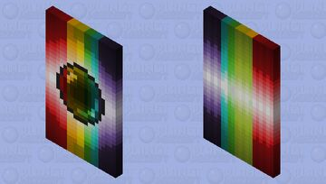 Mega end cape 4: The rainbow pearl Minecraft Mob Skin