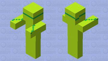 the light green human Minecraft Mob Skin