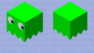 Pacman Ghost [Green] Minecraft Mob Skin