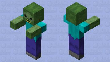 """""""I'm a zombie"""" angry Minecraft Mob Skin"""