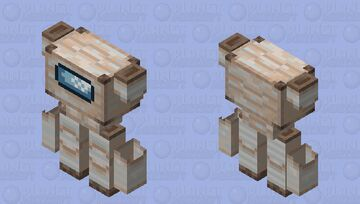 Among us Iron golem / low resolution / remade Minecraft Mob Skin
