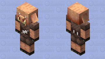 Better Piglin / Re-texturing / from Soul Sand Valley / Level 1 / nether quartz Minecraft Mob Skin