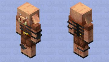 Piglin with Wither Skeleton armor Minecraft Mob Skin