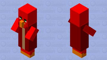 Angry birds villager 1 Minecraft Mob Skin