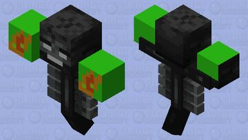 Rotten flesh with extra hell food Minecraft Mob Skin