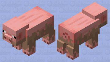 half muddy pig (minecraft earth) Minecraft Mob Skin
