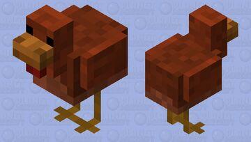 Common Chicken (Red/Brown Variant) [REDONE] Minecraft Mob Skin