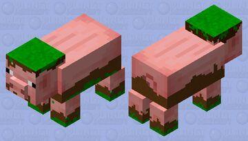 muddy and grassy pig. Minecraft Mob Skin