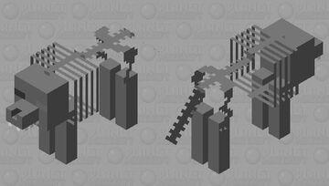 Skeleton wolf 3 Minecraft Mob Skin