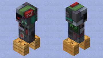 Square Scrapped Creeper Minecraft Mob Skin