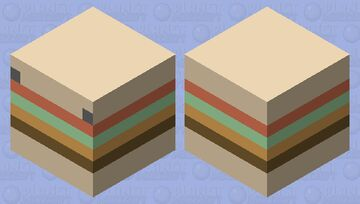 Burger Magma Cube Minecraft Mob Skin