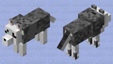 Siberian Husky Minecraft Mob Skin