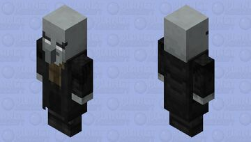 Doctor Gaster or Doctor Illager / remade from my first skin mod / without mask Minecraft Mob Skin