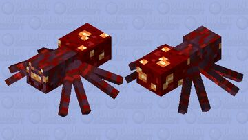 Spider / From Crimson Forest / re-remade Minecraft Mob Skin
