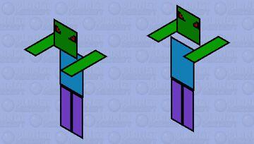 Paper Zombie Minecraft Mob Skin