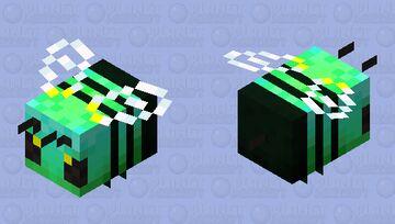 GreenGlow Bee Minecraft Mob Skin