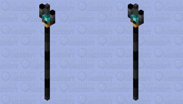 Netherite Trident (improved netherite based) Minecraft Mob Skin