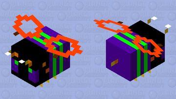 Halloween Bee Minecraft Mob Skin