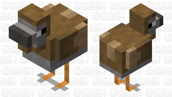 Raphus Cucullatus (DODO) Minecraft Skin