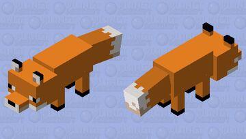 Simplistic Fox Minecraft Mob Skin
