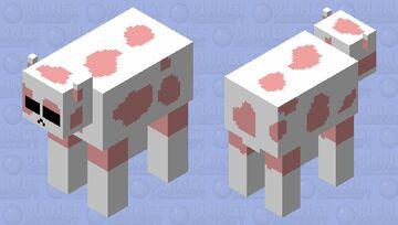 Strawberry Cow Minecraft Mob Skin