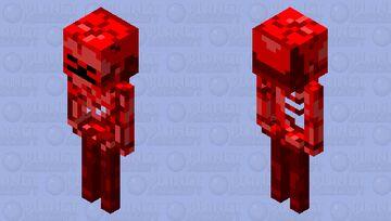 netherrack skeleton Minecraft Mob Skin