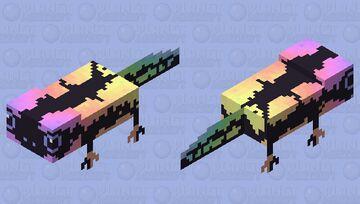 Rainbow salamander Minecraft Mob Skin