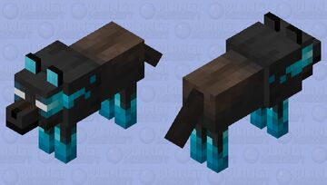 The wolf of souls (Soul sand valley) [CE] Minecraft Mob Skin
