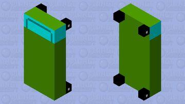 green car bed Minecraft Mob Skin