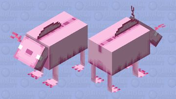 Nether Axolotl Minecraft Mob Skin