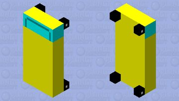 yellow car bed Minecraft Mob Skin