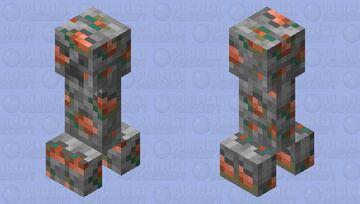 Copper ore creeper Minecraft Mob Skin