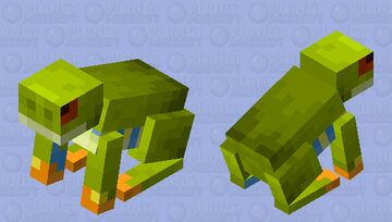 Red-eyed tree frog Minecraft Mob Skin