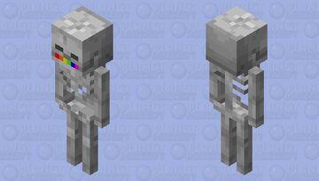 Rainbow skeleton mouth Minecraft Mob Skin