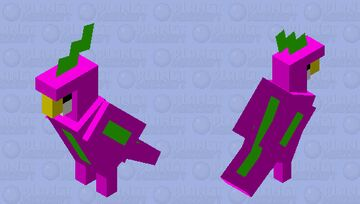 neon parrot Minecraft Mob Skin