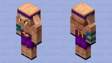 Piglin Fungus Thrower (without backpack) Minecraft Mob Skin
