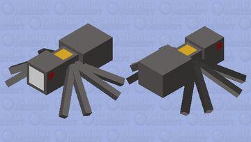 Flash Light Spider Minecraft Mob Skin