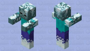 Frozen Zombie / from Dungeons Minecraft Mob Skin