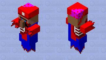Zombie Mario Villager Minecraft Mob Skin