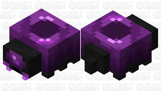 Better purple endermite (Credit to @YolerToons and @Xillager) Minecraft Skin
