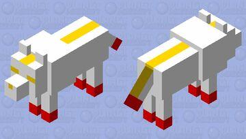 MooshWolf (Mooshroom Wolf) Minecraft Mob Skin