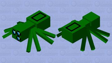 among us green spider Minecraft Mob Skin