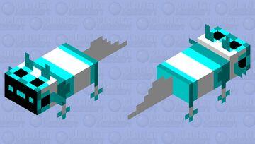 cyan axolotl proto Minecraft Mob Skin