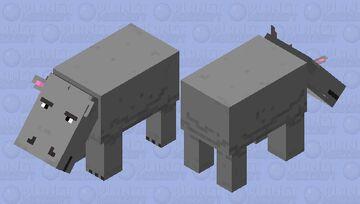 Hippo Minecraft Mob Skin