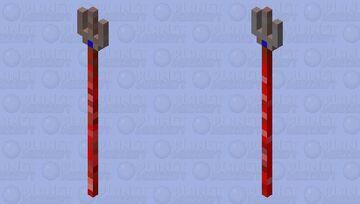Redstone Trident Minecraft Mob Skin