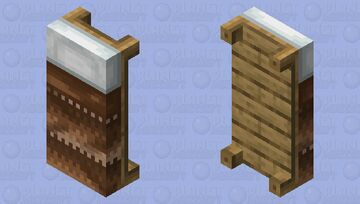 Knitted Brown Wool Bed HD Minecraft Mob Skin